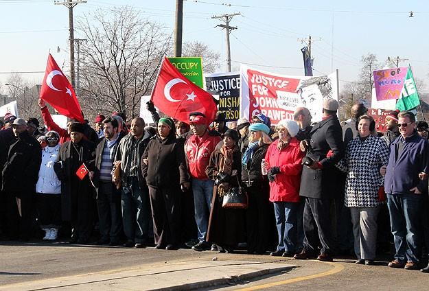 Martin Luther King yürüyüşünde Türk bayrakları