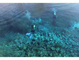 Doğal akvaryumda dalış keyfi