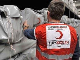 Kızılaydan Türkmen sığınmacılara yardım
