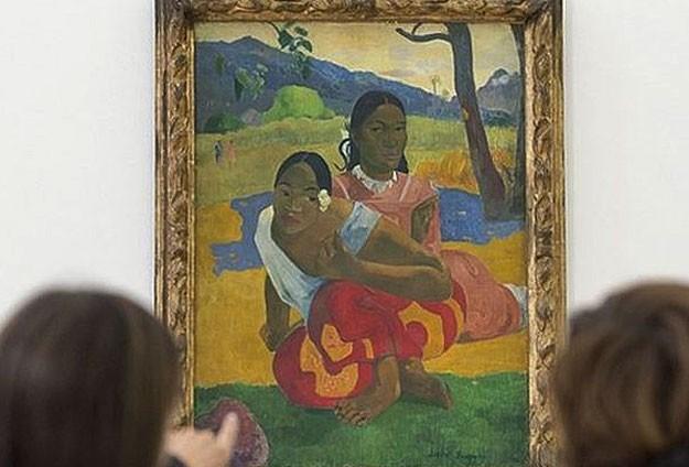 Gauguinin Tahitili kızları 300 milyon dolara satıldı