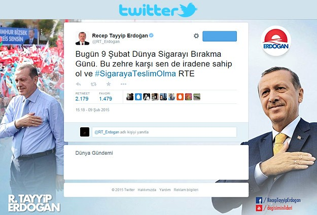Cumhurbaşkanı Erdoğan ilk tweetini attı