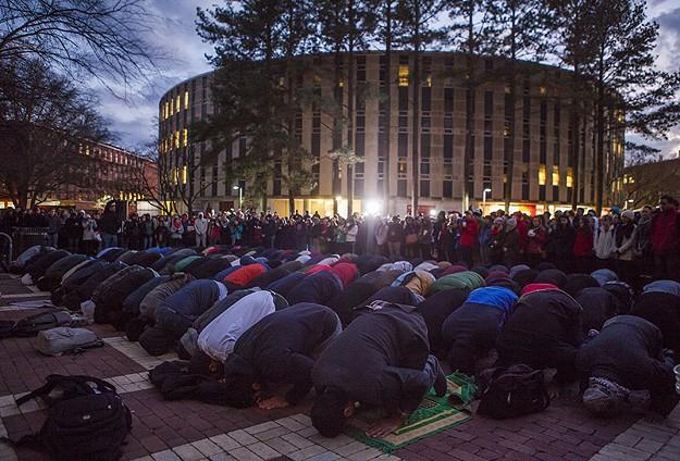 ABDde öldürülen üç Müslüman genç anıldı