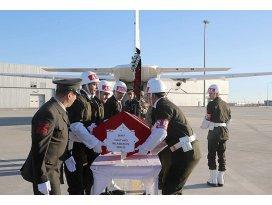 Şehit Başçavuş Avcının cenazesi Trabzona gönderildi