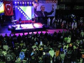 Bosnada Erdoğana sevgi etkinliği