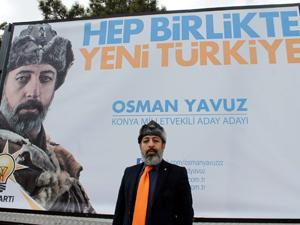 AK Partili aday adayından ilginç afiş