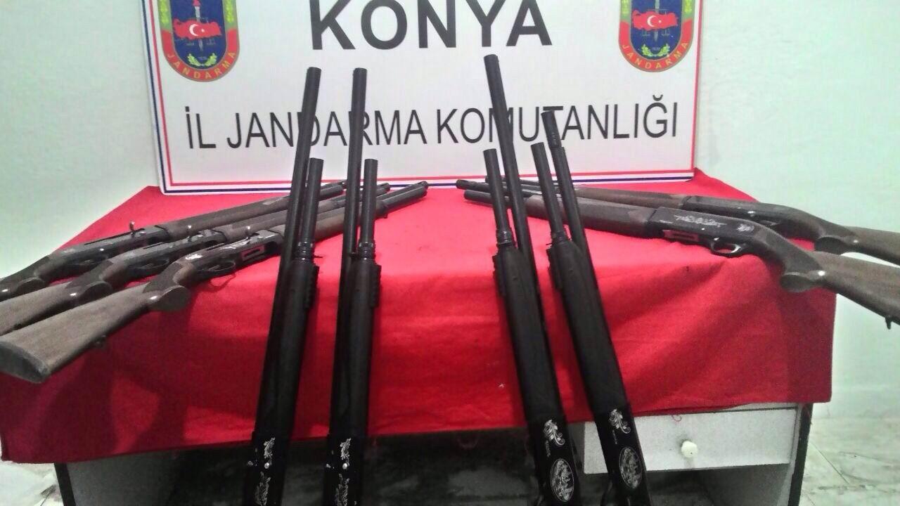 Yasa dışı üretim tüfeklere el konuldu