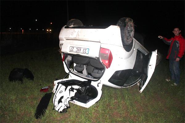 Yeni aldıkları araçla kaza yaptılar: 2 yaralı