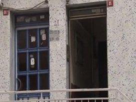 Hırsızlar bu kez de binanın kapısını çaldı