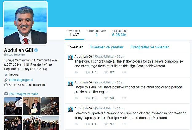 11. Cumhurbaşkanı Gülün Twitter hesabı hacklendi