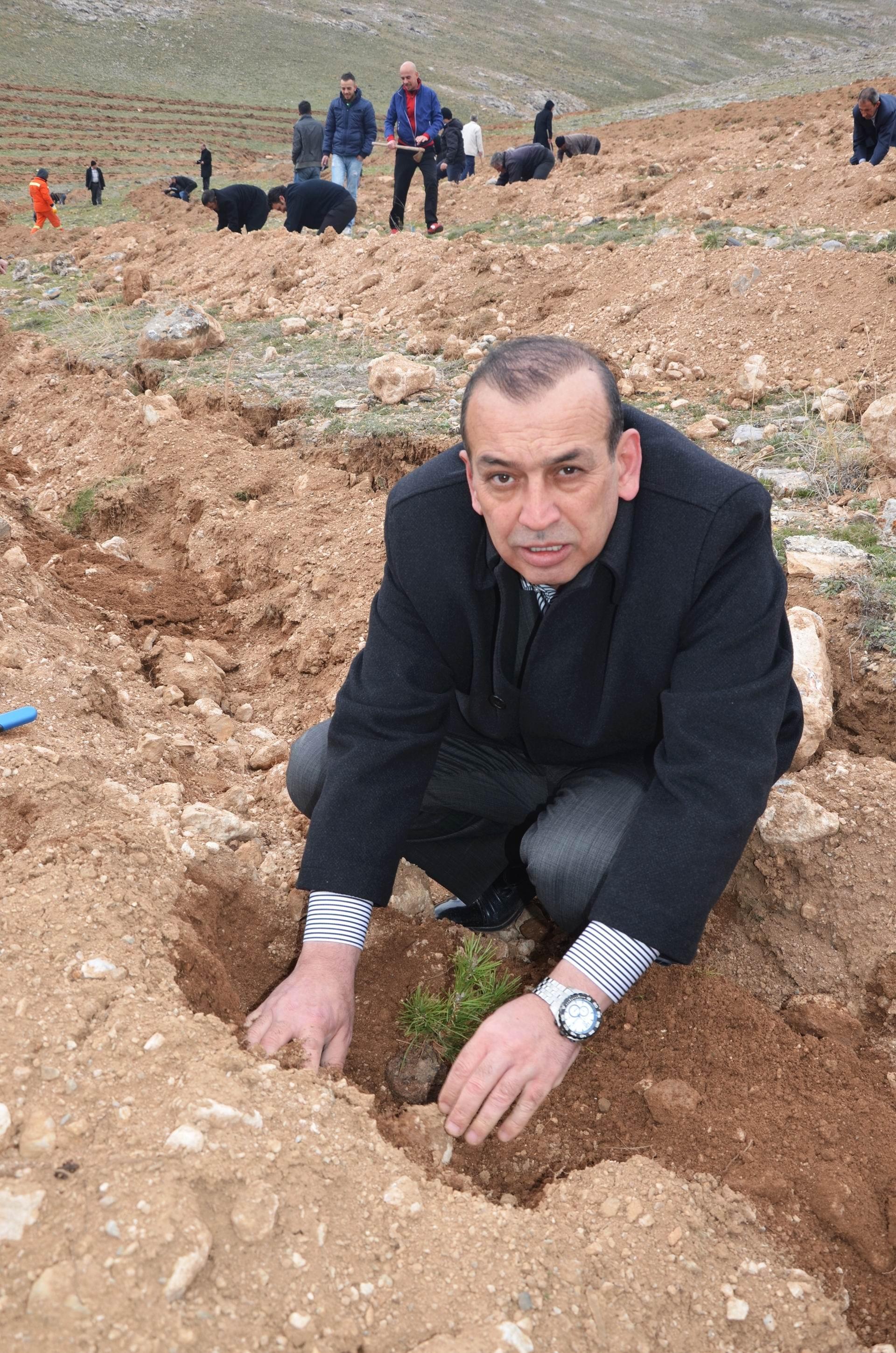 Esnaflar iki bin fidanı toprakla buluşturdu