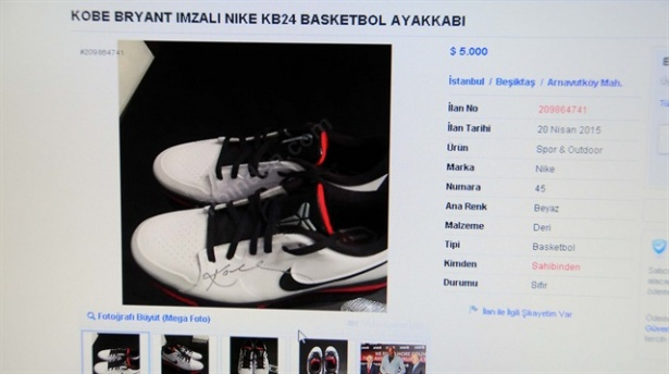 Kobe Bryant'ın ayakkabısı 5 bin dolar