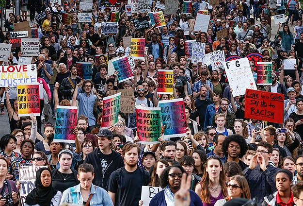 ABDde polis şiddeti protesto edildi