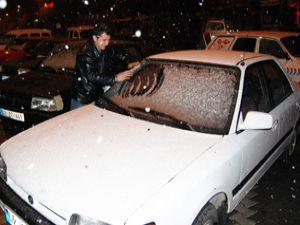 Konya baharda kar gördü