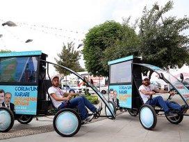 Çevre dostu araçlarla seçim kampanyası