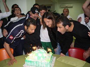 Konyasporlu oyuncuların mutlu günü