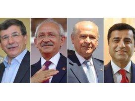 AK Parti ile CHP yükselişte, MHP ve HDP düşüşte