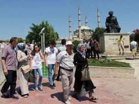 Selimiye Camii bayram boyunca doldu taştı