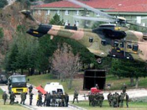 Yaralı teröristi askeri helikopter taşıdı!