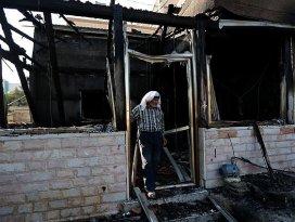 Yangında ölen Filistinli bebeğin babası  da öldü