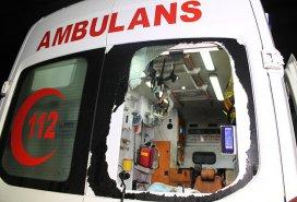 Bitliste park halindeki ambulansa saldırı