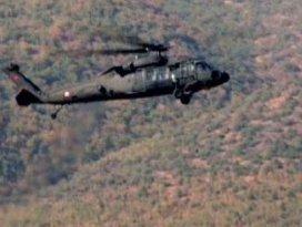 Askeri helikoptere roketatarlı saldırı!
