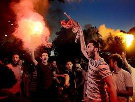 Saraçhanede Rabia protestosu
