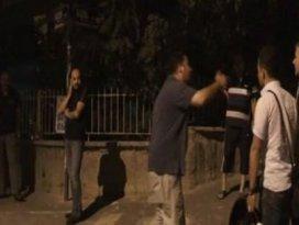 Polise sarılan gence biber gazı sıktı