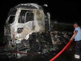 Iğdırda teröristler tır yaktı