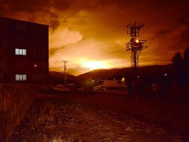 Karsta doğalgaz boru hattına terör saldırısı