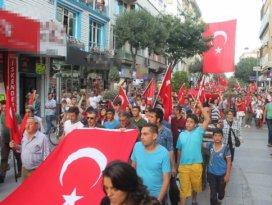 Konyada terörü protesto yürüyüşü