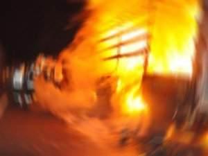 Konyada yangın