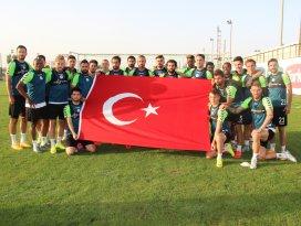 Torku Konyasporlu futbolculardan teröre lanet