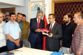 Konyada gazetecilerden Emniyet Müdürü Demir'e ziyaret