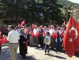 Akşehir'de teröre tepki yürüyüşü