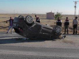 Ereğlide otomobil takla attı: 5 yaralı