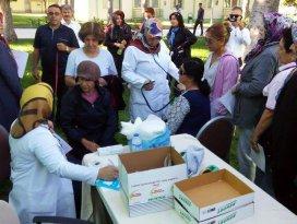 Ereğli'de spor yapan kadınlara sağlık taraması
