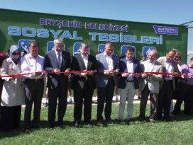 Beyşehirde spor kompleksi törenle açıldı