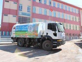 Beyşehirde okul bahçelerinde temizlik seferberliği