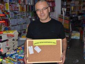 """Seydişehir'de """"Askıda kitap-kırtasiye"""" kampanyası"""