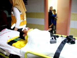 Konyada dereye düşen çocuk ağır yaralandı