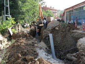 Derbent'te kanalizasyon hizmet ağı genişledi