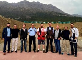 Emniyet Müdürü Aydoğandan, trap atıcılarına ziyaret