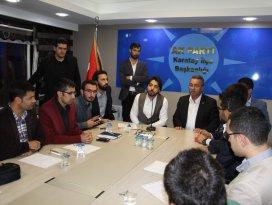 Başkan Hançerli AK Parti Karatay Gençliğiyle bir araya geldi