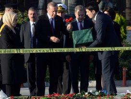 Cumhurbaşkanı Erdoğan patlama bölgesinde
