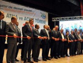 Bakan Eroğlu toplu açılış ve temel atma törenine katıldı