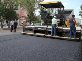Seyyid Harun Bulvarına sıcak asfalt