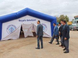 Beyşehir'de taziye çadırı hizmeti dönemi