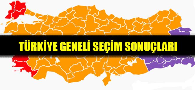 Türkiye geneli seçim sonucu