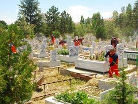 Konya'da bakımsız mezarlık kalmadı