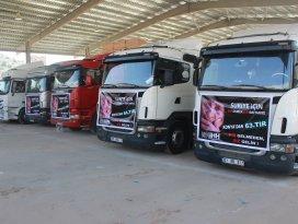 Konya İHHdan Suriyeli Mültecilere 150 ton un yardımı